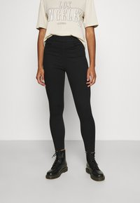 Levi's® - MILE HIGH PULL ON - Jeans Skinny - black denim - 0