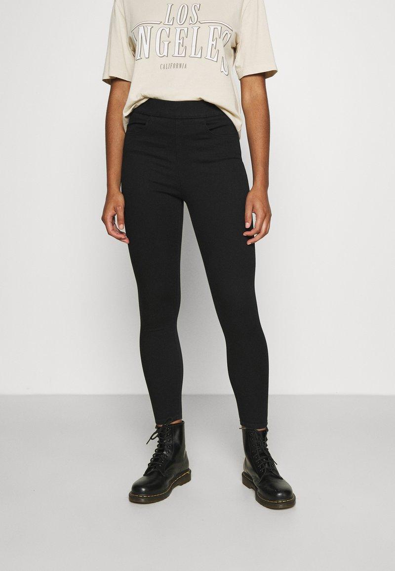 Levi's® - MILE HIGH PULL ON - Jeans Skinny - black denim