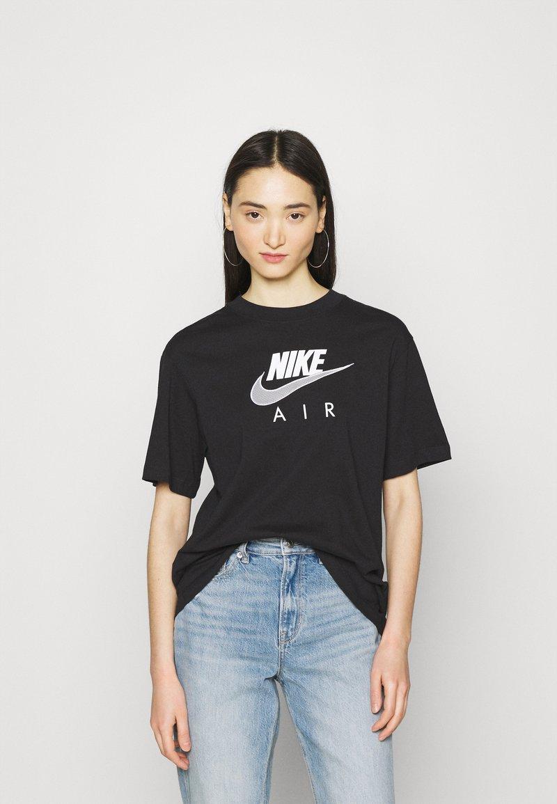 Nike Sportswear - AIR  - T-shirt con stampa - black/white