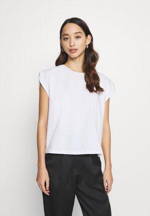 SLEEVE DETAIL - Basic T-shirt - white