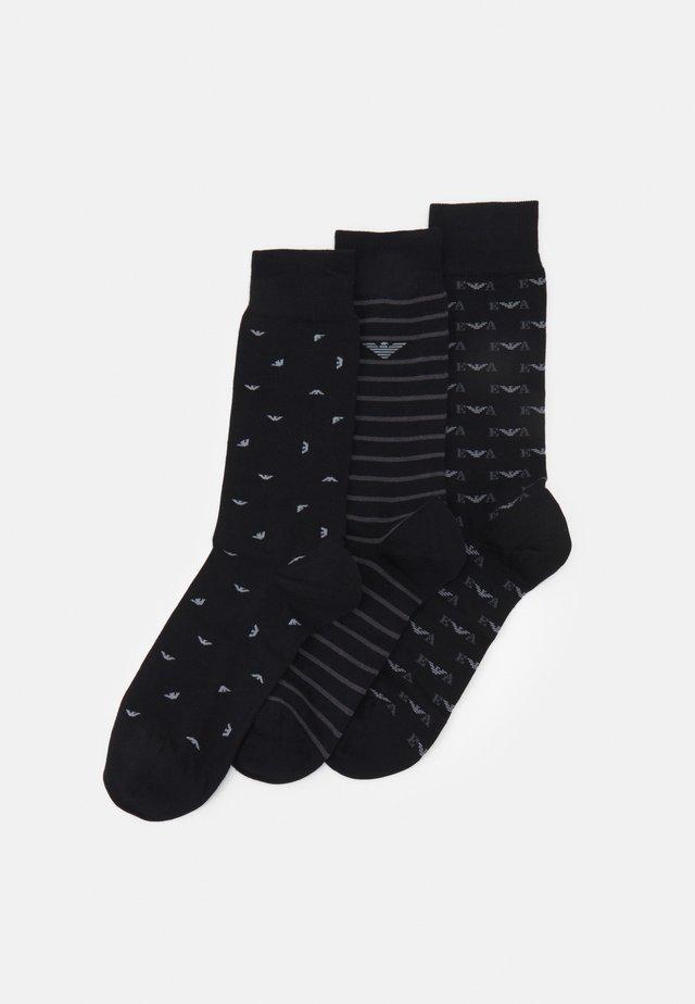 SHORT SOCKS 3 PACK - Calze - nero