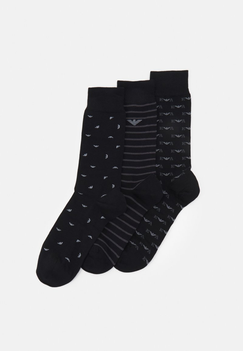 Emporio Armani - SHORT SOCKS 3 PACK - Socks - nero