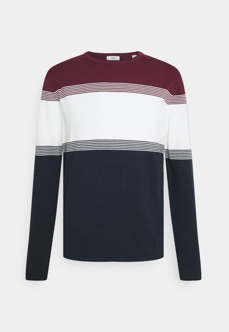 Esprit - COO F STRIP  - Trui - dark red