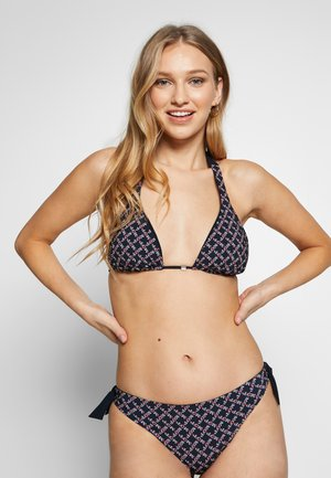 REVERSIBLE TRIANGLE SET - Bikini - blau/schwarz