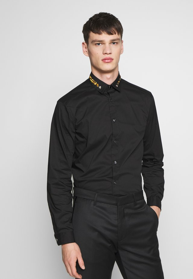 COLLAR BAND SHIRT - Camicia - black