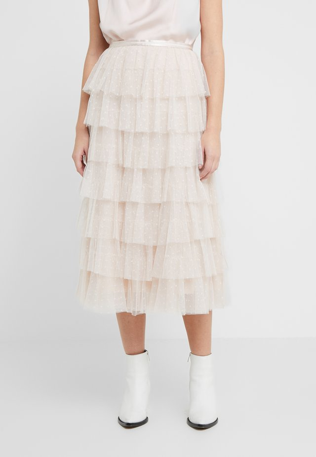 NEVE RUFFLE BALLERINA SKIRT - Gonna a campana - pearl rose