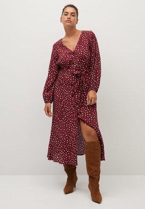 LEOPARD7 - Shirt dress - donkerrood