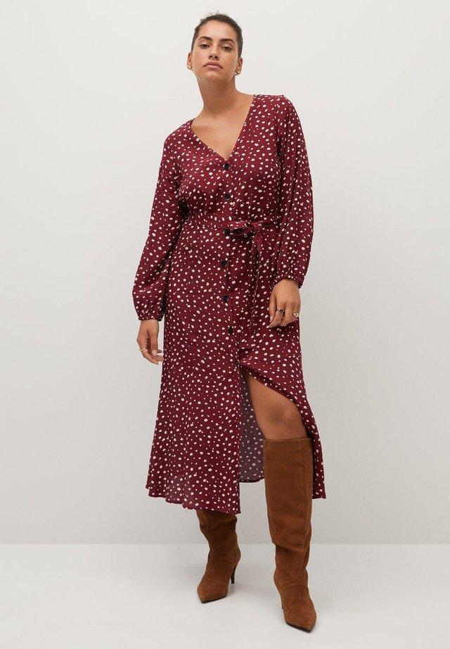 LEOPARD7 - Sukienka koszulowa - donkerrood