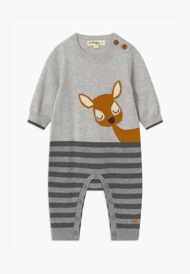 DEER INTARSIA PLAYSUIT UNISEX - Mono - grey