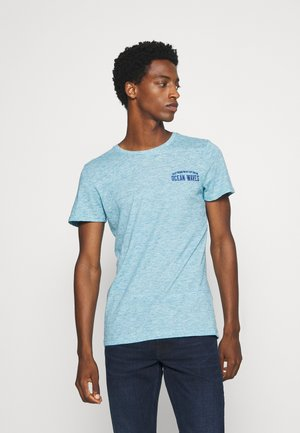 T-Shirt print - teal melange