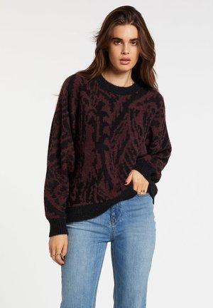 IN A MEOWMENT SWEATR - Sweatshirt - black combo