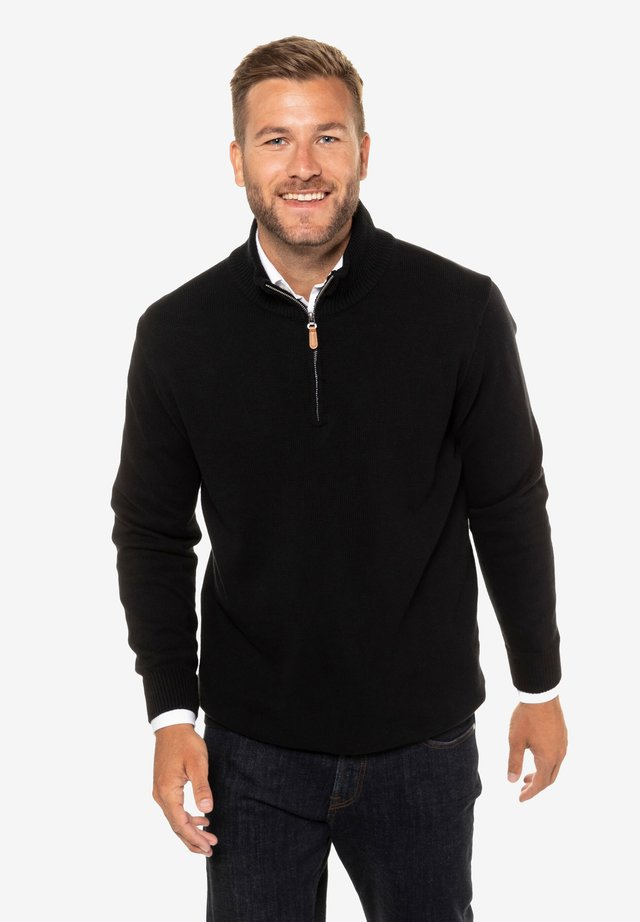 TROYER - Stickad tröja - schwarz