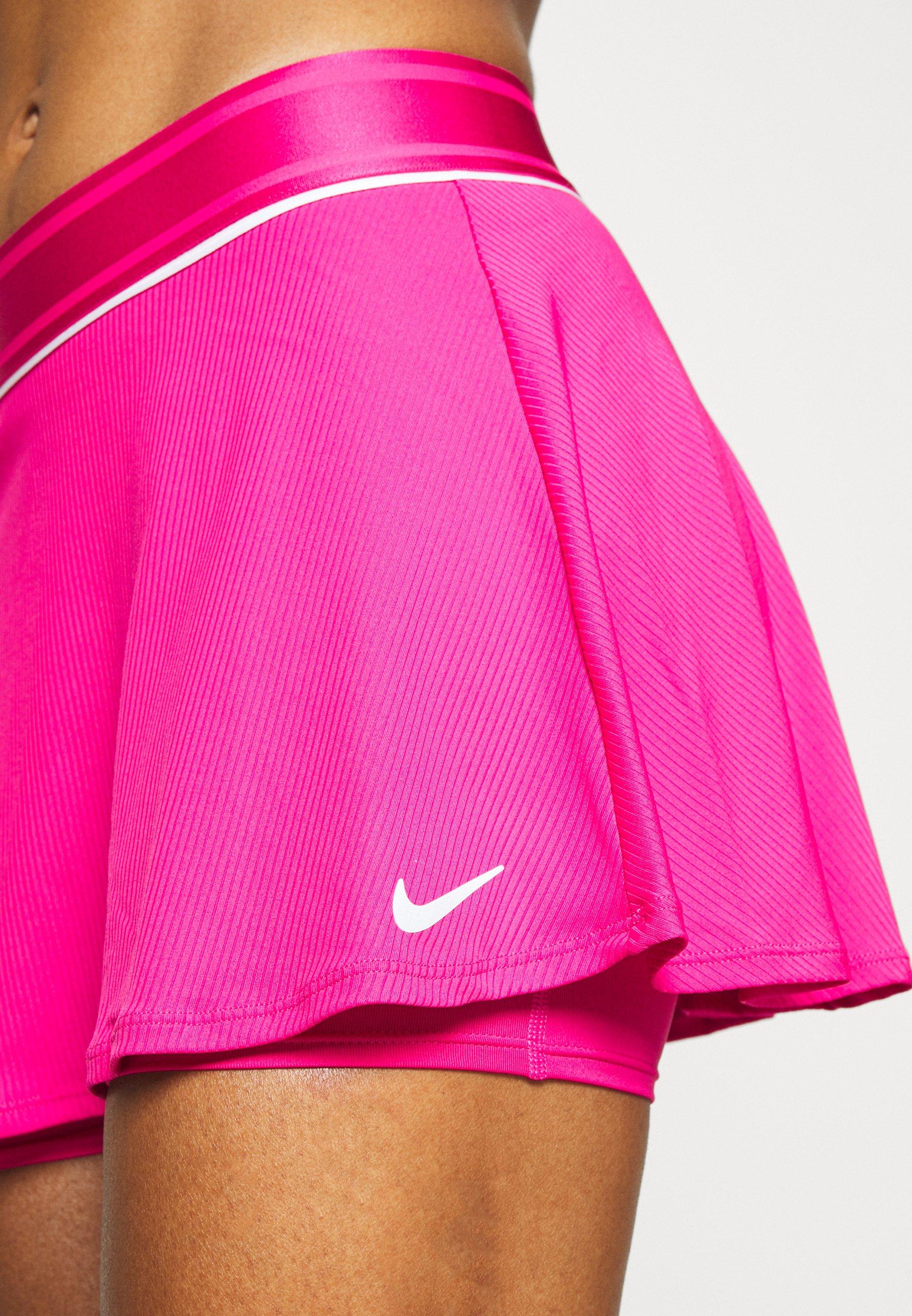Nike Performance FLOUNCY SKIRT - Sports skirt - vivid pink/white Q5c6d