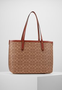 Coach - SIGNATURE CENTRAL TOTE WITH ZIP - Handtasche - tan/rust - 2