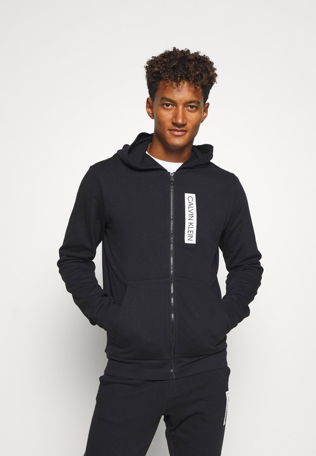 FULL ZIP HOODED  - Jersey con capucha - black