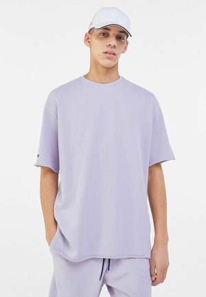SHORT SLEEVE SWEAT - T-shirt basic - mauve