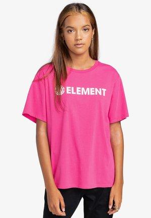T-shirt print - fushia red