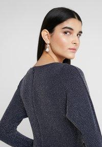 Lauren Ralph Lauren - MINI METALLIC EVENING GOWN - Vestido de fiesta - light navy/grey silver - 4