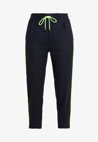 DRYKORN - LEVEL - Kalhoty - navy/neon yellow - 3
