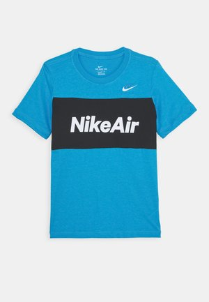 AIR TEE - T-shirt z nadrukiem - laser blue/black
