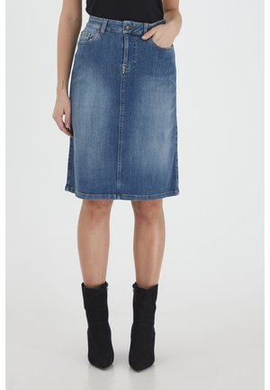 DANNI - Denim skirt - light blue denim