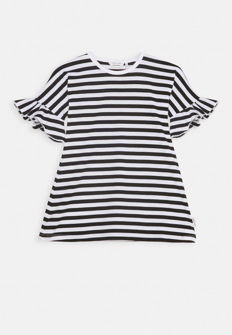 Marimekko - LAAJA TASARAITA - Jersey dress - black/white
