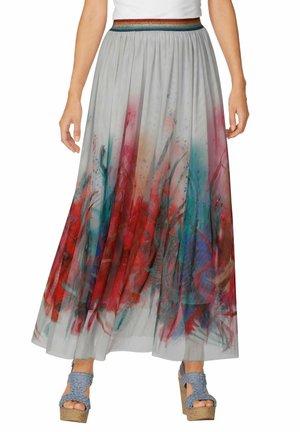 Maxi skirt - grau,rot,pink