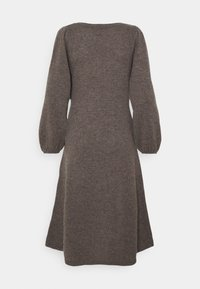 pure cashmere - LINE LONG DRESS - Abito in maglia - heather brown - 1