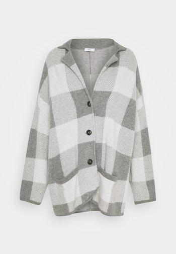 JACKET - Klasický kabát - heather grey melange