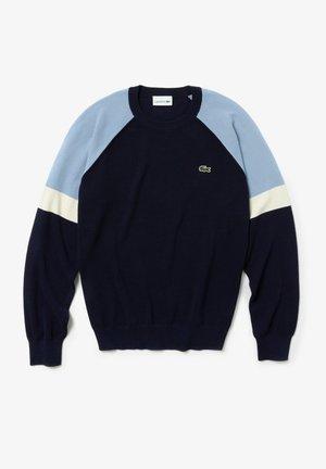 AH3416 - Sweatshirt - navy blau / weiß / hellblau