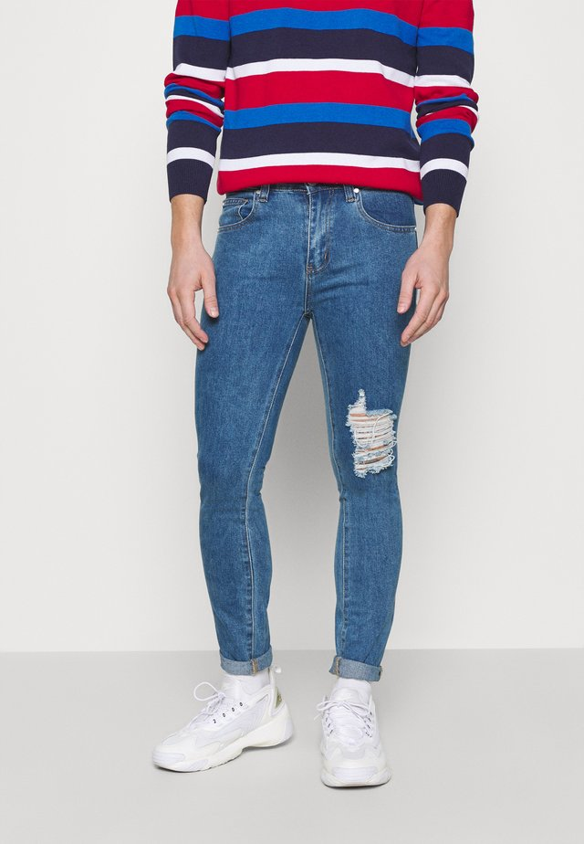 RIPPED  - Jeans Skinny Fit - mid blue