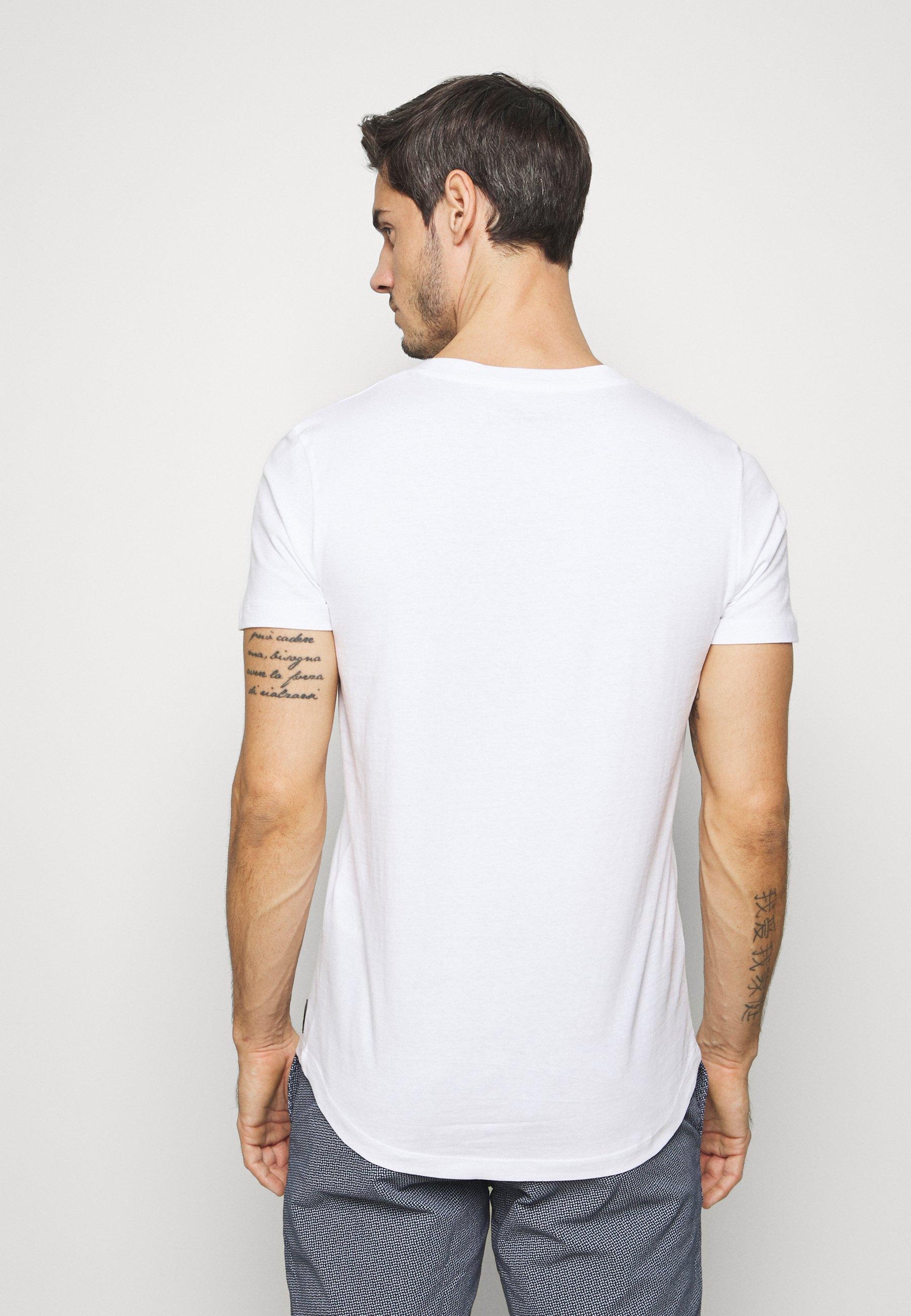 Men NEW PRINTPLACEMENT - Print T-shirt - white