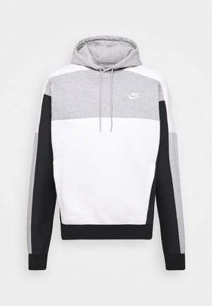 HOODIE - Huppari - grey heather/black/white