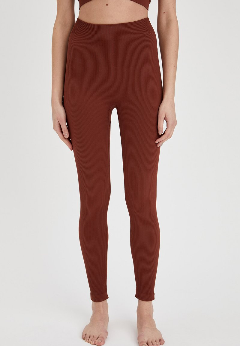 DeFacto - Leggings - Trousers - brown