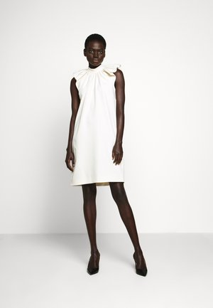 RUCHED SHOULDER SLEEVLESS DRESS - Sukienka letnia - ecru