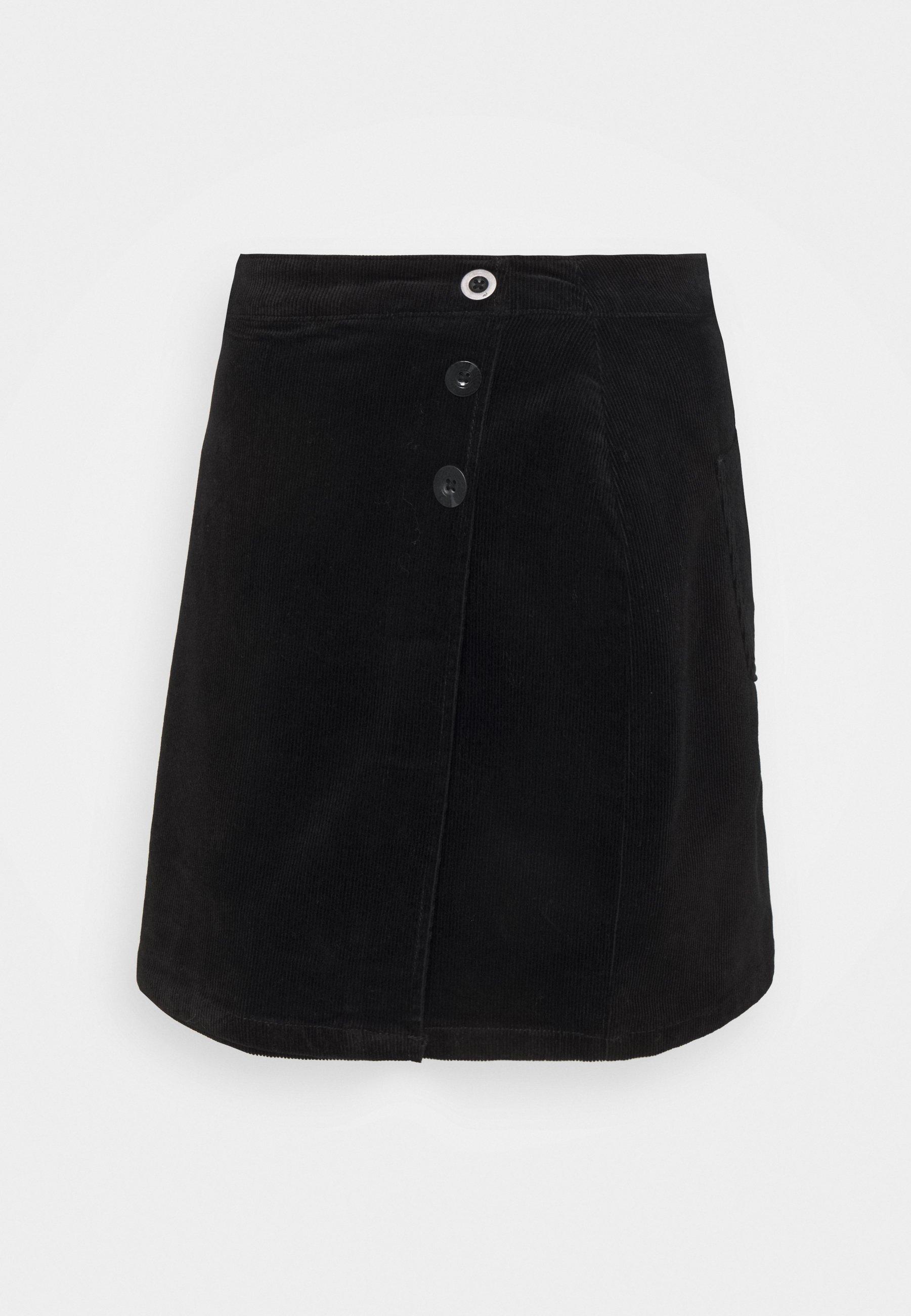 Femme WRAP BUTTON SKIRT - Minijupe