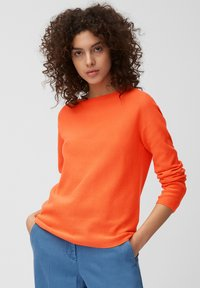 Marc O'Polo - LONGSLEEVE SOLID STRUCTURED SEAMLESS - Jumper - orange - 0