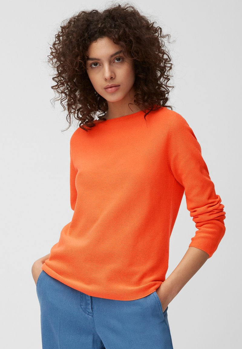 Marc O'Polo - LONGSLEEVE SOLID STRUCTURED SEAMLESS - Jumper - orange
