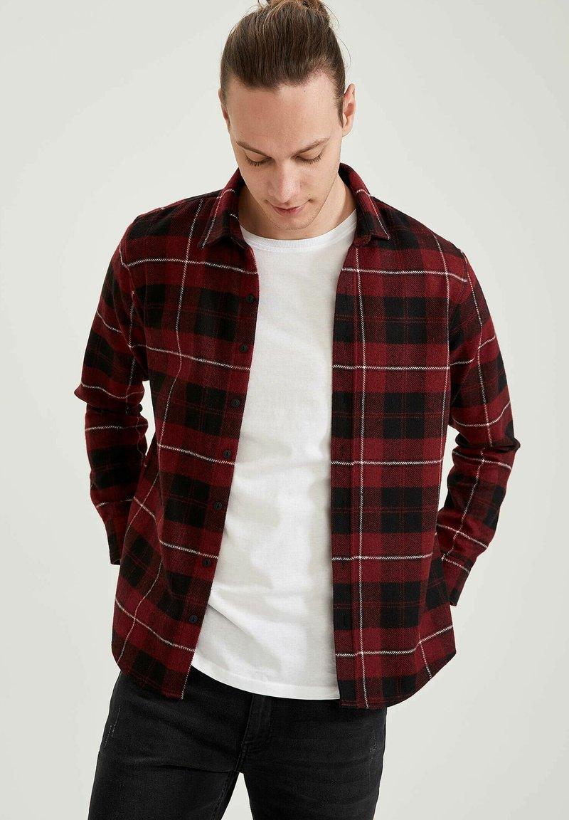 DeFacto - OVERSHIRT - Overhemd - bordeaux