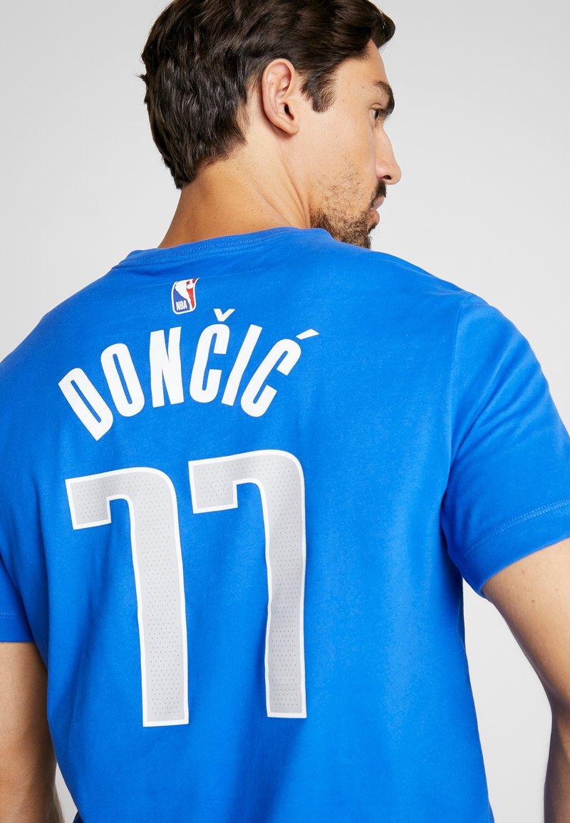 Nike Performance Nba Dallas Mavericks Luka Doncic Name Number Tee Print T Shirt Game Royal Zalando Co Uk