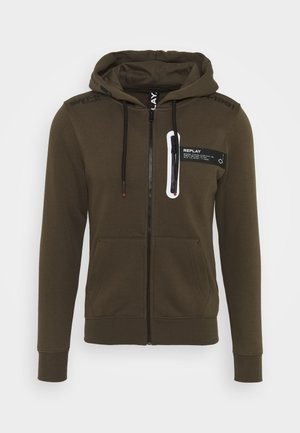 Zip-up hoodie - military