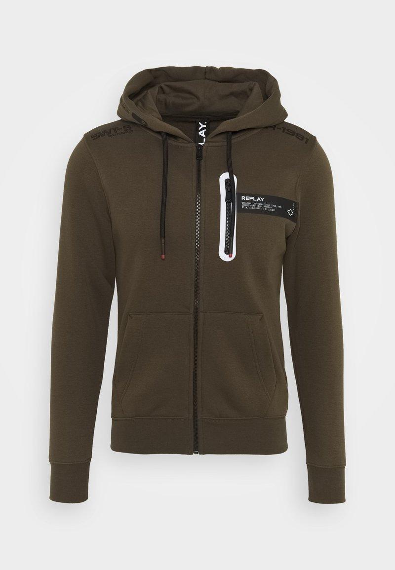 Replay - Zip-up hoodie - military