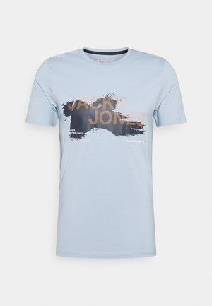 JCOHOLE TEE CREW NECK - Print T-shirt - dusty blue