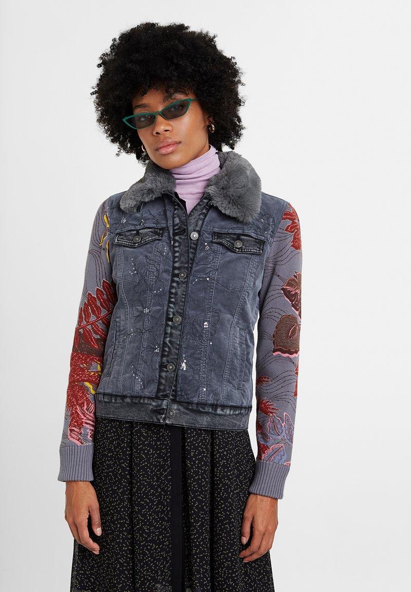 Desigual - CHAQ_PANA - Denim jacket - black