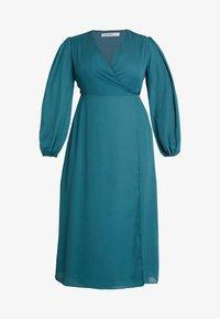 Glamorous Curve - LONG SLEEVE WRAP DRESS - Maxi dress - teal - 5