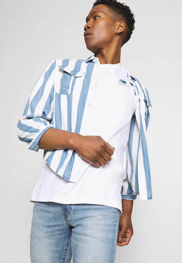 New Balance ESSENTIALS TEE - T-shirt basic - white/biały Odzież Męska DRRW
