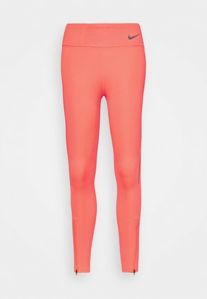 FASTER 7/8 - Tights - bright mango/gunsmoke