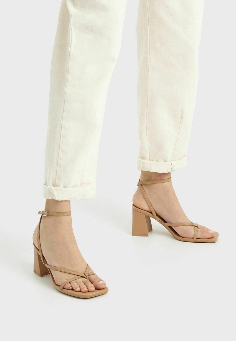 Bershka - Sandals - brown