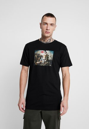 WALK IT TEE - T-shirt z nadrukiem - black