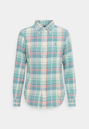 GEORGIA LONG SLEEVE - Button-down blouse - faded teal